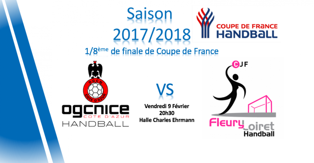 1 8 me de finale de coupe de france ogcnice handball - Tirage coupe de france 8eme de finale ...